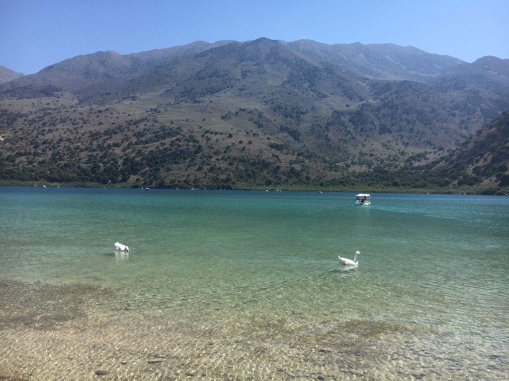 Jezioro Kournas Kreta