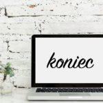 laptop, koniec powieści, jak napisać książkę